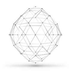 Abstract wireframe polygonal geometric element vector