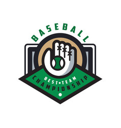 baseball championship best team logo template vector image