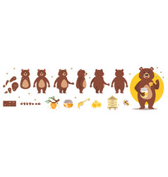 Bear character for animation vector
