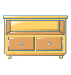 bedroom table icon cartoon style vector image