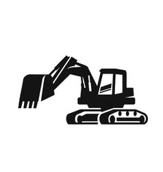 Black Excavator vector