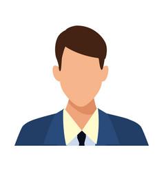 Businessman faceless profile avatar vector