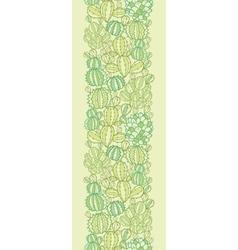 Cactus plants texture vertical seamless pattern vector