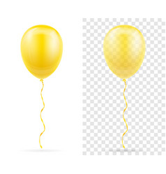 celebratory yellow transparent balloons pumped vector image