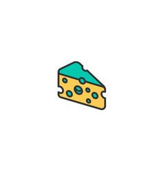cheese icon design gastronomy icon design vector image