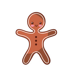 christmas gingerbread cookie sweet icon vector image