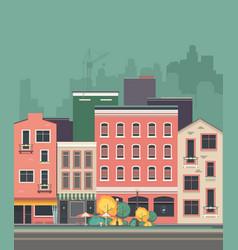 Cityscape city street vector