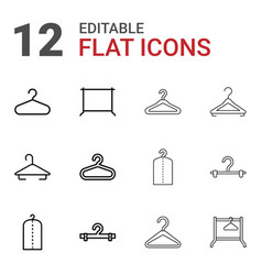 cloakroom icons vector image