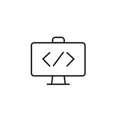 Code icon code icon in trendy flat style vector