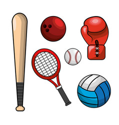 color diferents sport games icon vector image
