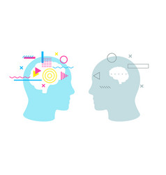 Confrontation between smart and stupid brain vector