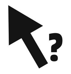 cursor question icon simple black style vector image