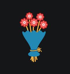 Cute bouquet of flowers vector