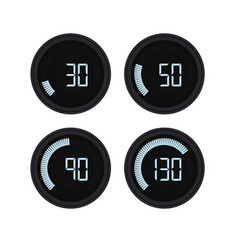 Digital speed gauge vector
