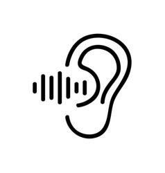 Ear hears sound icon outline vector