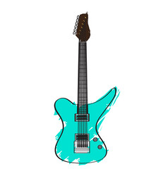 electric guitar icon musical instrument vector image