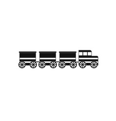 electric train icon simple style vector image