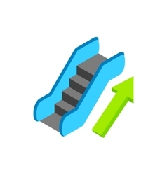 Escalator isometric 3d icon vector image