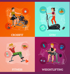 exercise equipment concept vector image