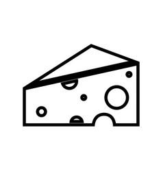 figure delicious cheese food icon vector image