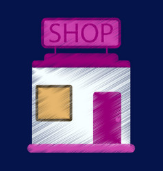flat icon in shading style shop store vector image