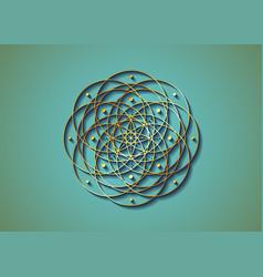 Geometric mystic mandala gold sacred geometry vector