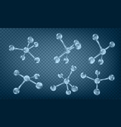 glass molecules model reflective and refractive vector image