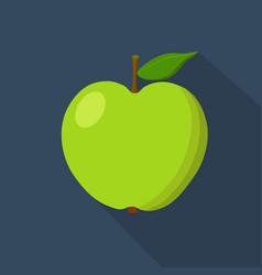 Green apple cartoon flat icon dark blue vector