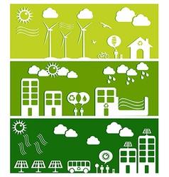 Green city concept vector