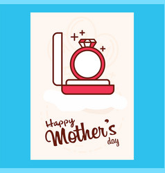 Happy motherss day typographical design card vector