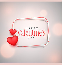 happy valentines day background with 3d hearts vector image