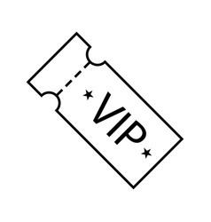icon vip ticket vector image