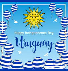 Independence day of uruguay vector