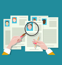 job vacancy employee hunter documents review vector image