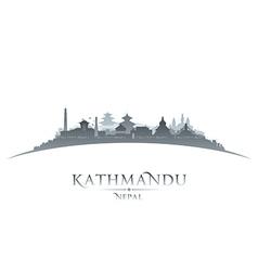 Kathmandu Nepal city skyline silhouette vector
