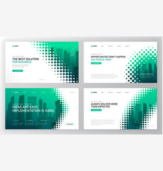 landing pages templates set for business vector image