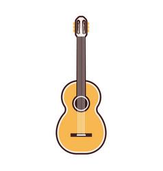 line guitar icon vector image