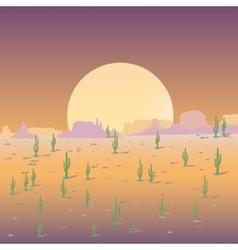 Mexican desert background vector