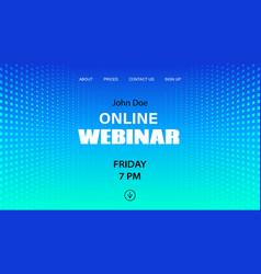 Online webinar template mock up vector