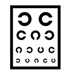 Ophthalmology tablet icon simple style vector