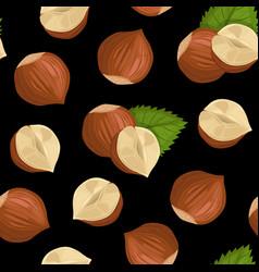 pattern with hazelnut vector image