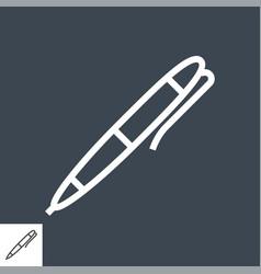 pen thin line icon vector image