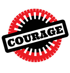 Print courage stamp on white vector