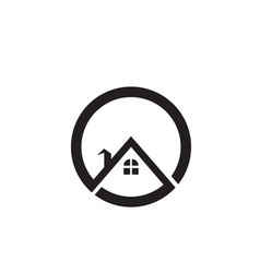 property and construction logo design for vector image