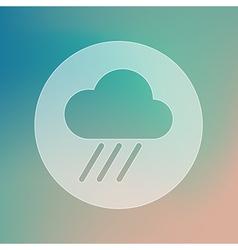 Rain Cloud transparent icon Downpour Weather vector