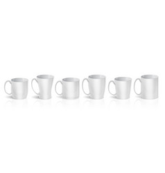 realistic cups 3d white mugs types set blank vector image