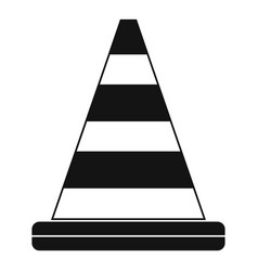 road cone icon simple style vector image