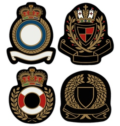 royal emblem badge shield vector image