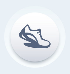 Running icon logo element with running shoe vector