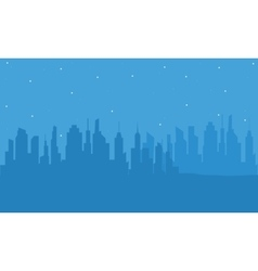 Silhouette of building with blue backgrounds vector